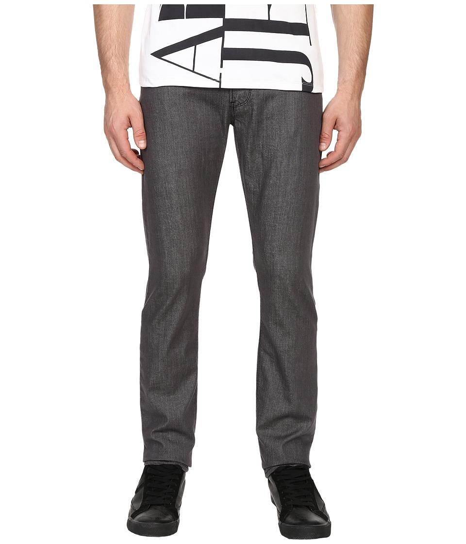 Armani Jeans Slim Fit Zipper Closure Jeans in Grey Grey Mens Jeans