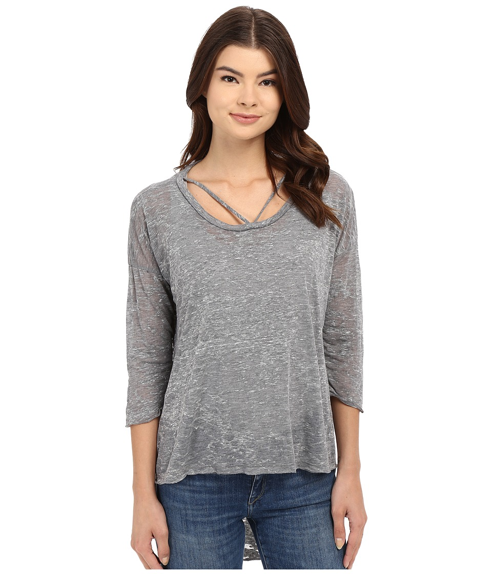 LNA Cape Strap Tee Heather Grey Womens T Shirt