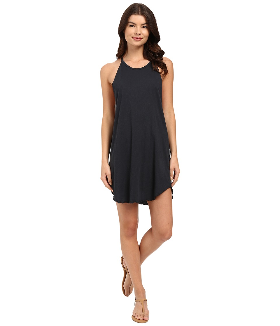 LNA Bib Tank Mini Dress Faded Black Womens Dress