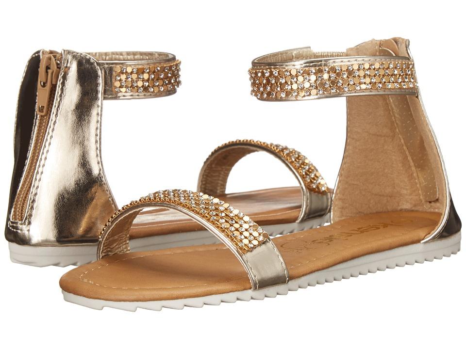kensie girl Kids Ankle Strap Sandals Little Kid/Big Kid Gold Girls Shoes