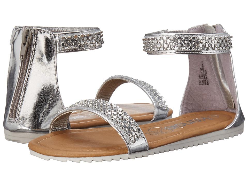 kensie girl Kids Ankle Strap Sandals Little Kid/Big Kid Silver Girls Shoes