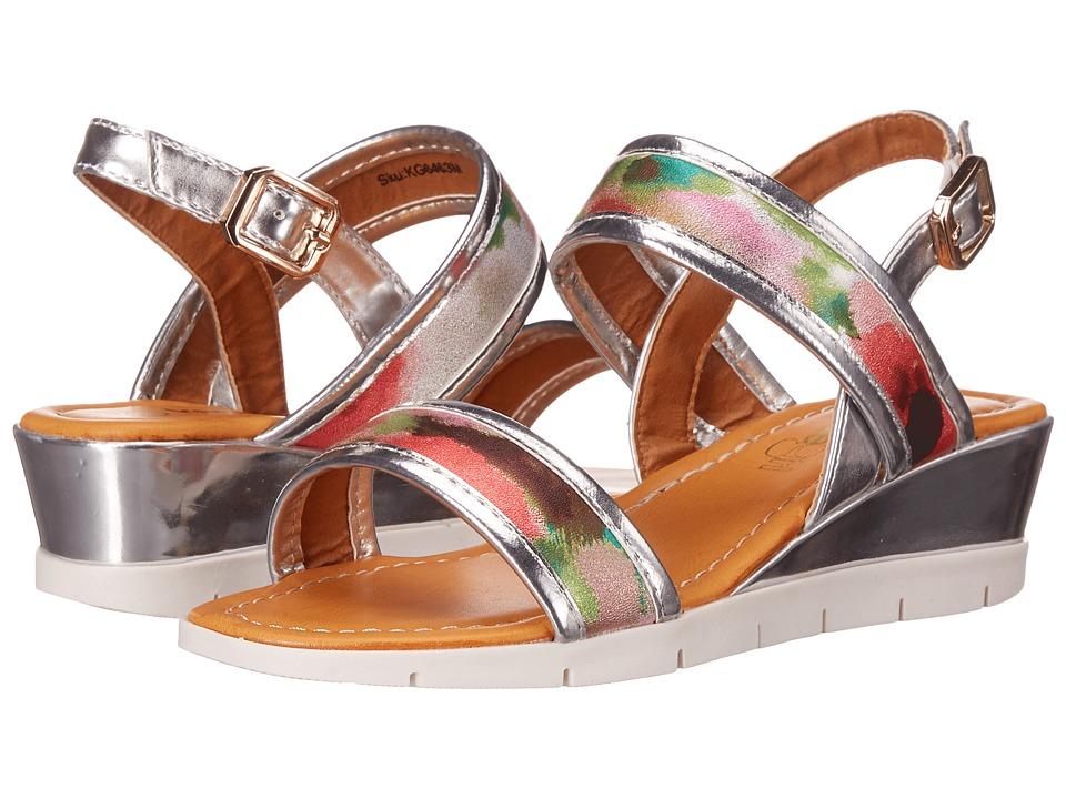 kensie girl Kids Casual Wedge Sandals Little Kid/Big Kid Silver Multi Girls Shoes