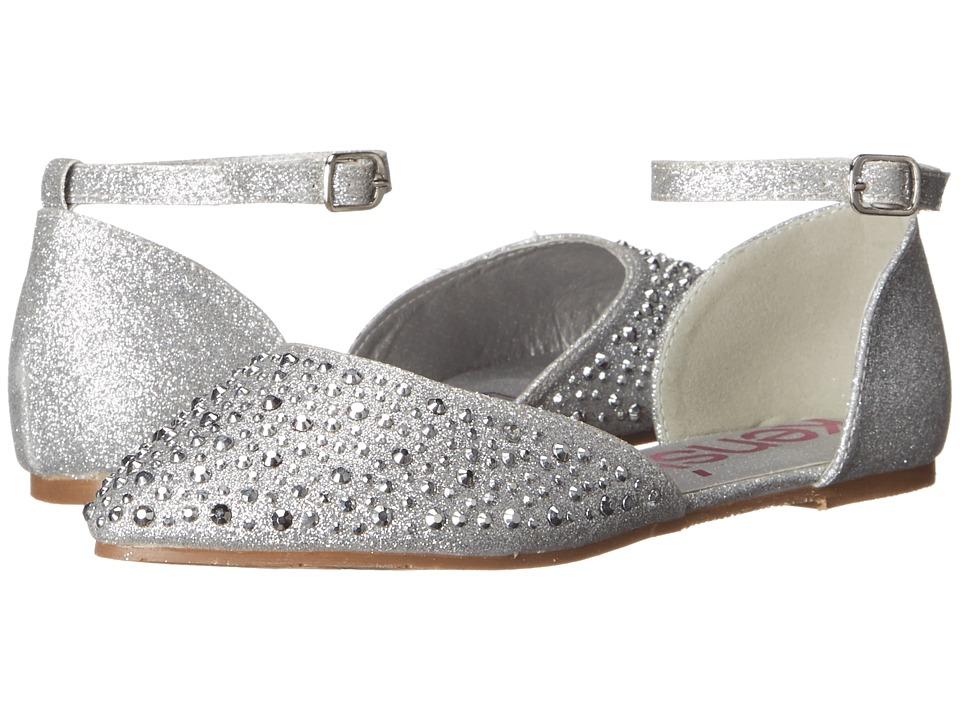 kensie girl Kids Shine Ballerinas Little Kid/Big Kid Silver Shine Girls Shoes