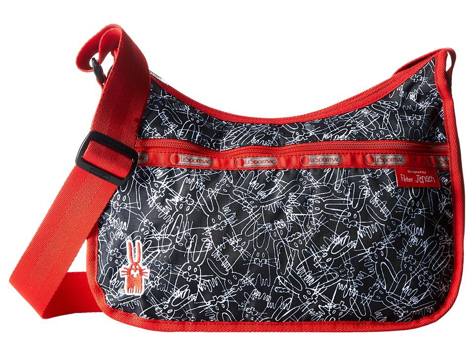 LeSportsac - Classic Hobo Bag (Scribble Rabbits) Cross Body Handbags