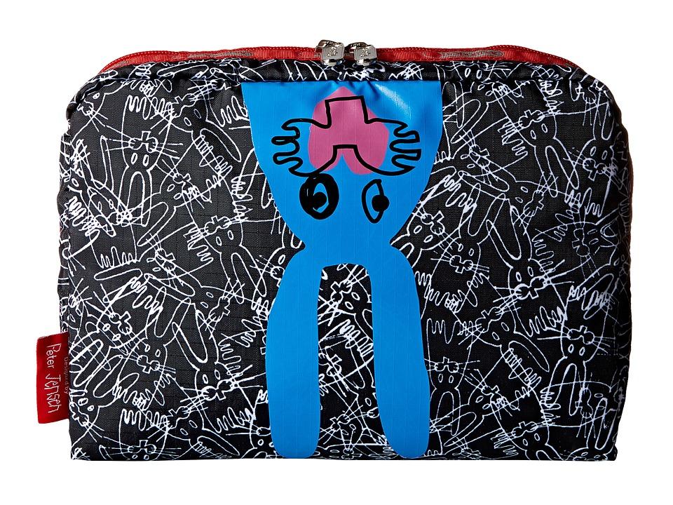 LeSportsac Luggage Extra Large Rectangular Cosmetic Tim Cosmetic Case