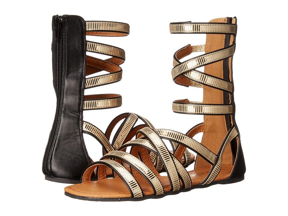 kensie girl Kids Gladiator Sandals Little Kid/Big Kid Black/Gold Girls Shoes