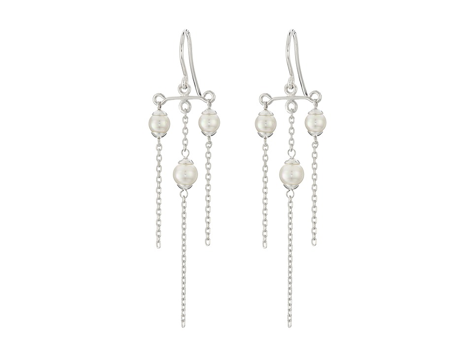 Majorica Willow Earrings Silver/White Earring