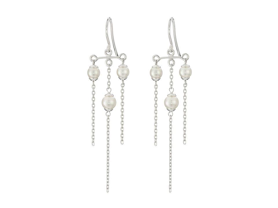 Majorica Willow Earrings Silver/White Earring