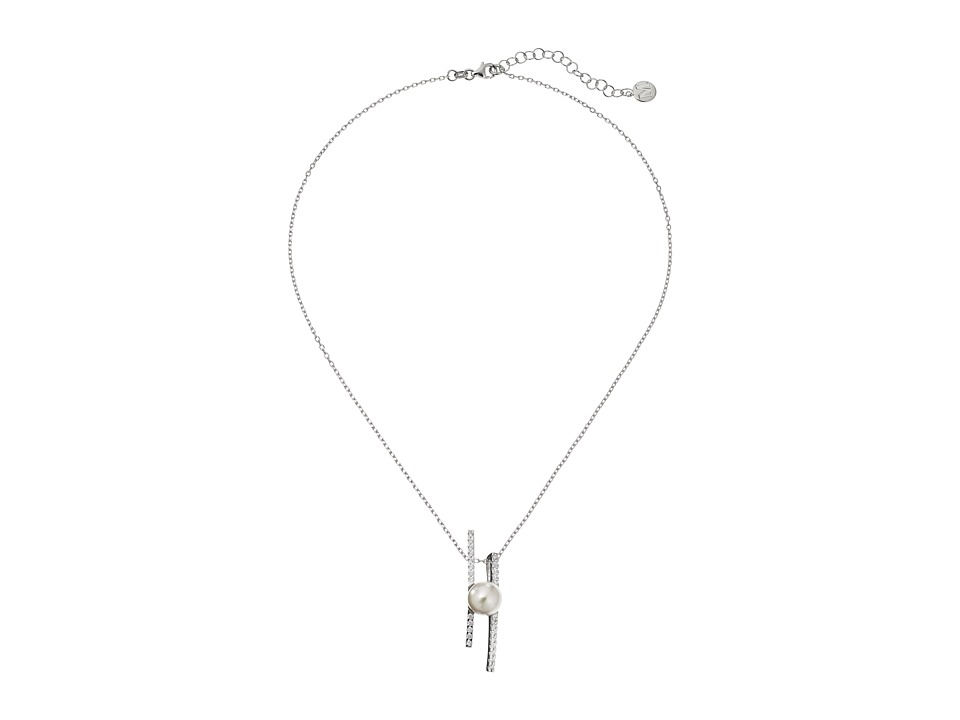 Majorica Kate Pendant Necklace Silver/White Necklace