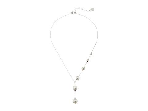 Majorica Lucy Asymmetrical Necklace - Silver/White