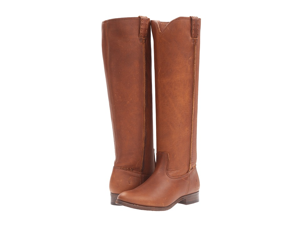 Frye - Cara Tall (Cognac Washed Oiled Vintage) Women