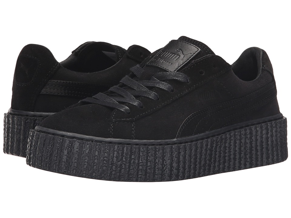 PUMA - Suede Creepers Satin Rihanna (Black/Black/Black) Womens Shoes