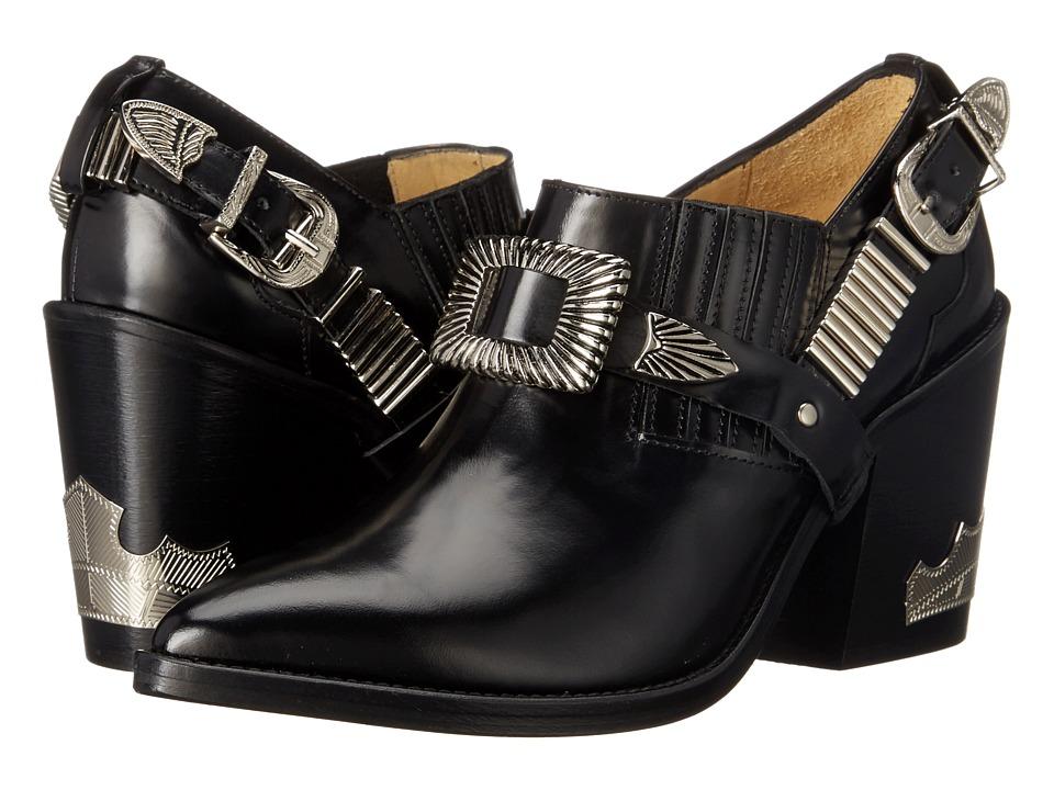 Toga Pulla AJ728 Black Leather Womens Shoes