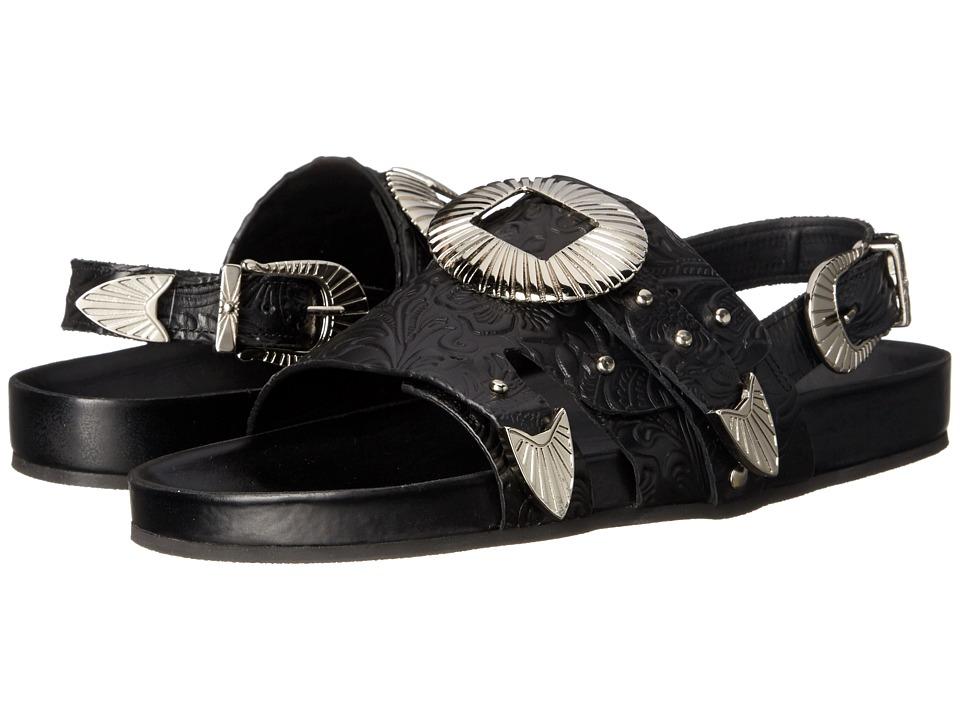 Toga Pulla AJ699 Black Embossed Womens Shoes