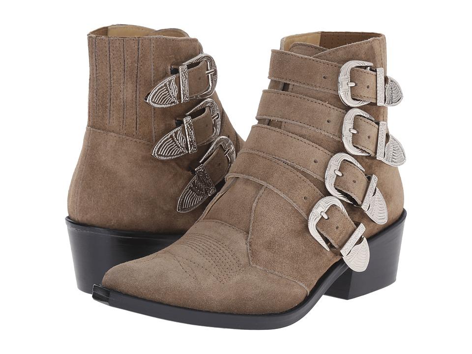 Toga Pulla AJ006 Khaki Suede Womens Shoes