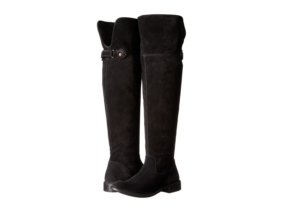 Frye Shirley Over-The-Knee Wide (Black Soft Oiled Suede Extended) Women