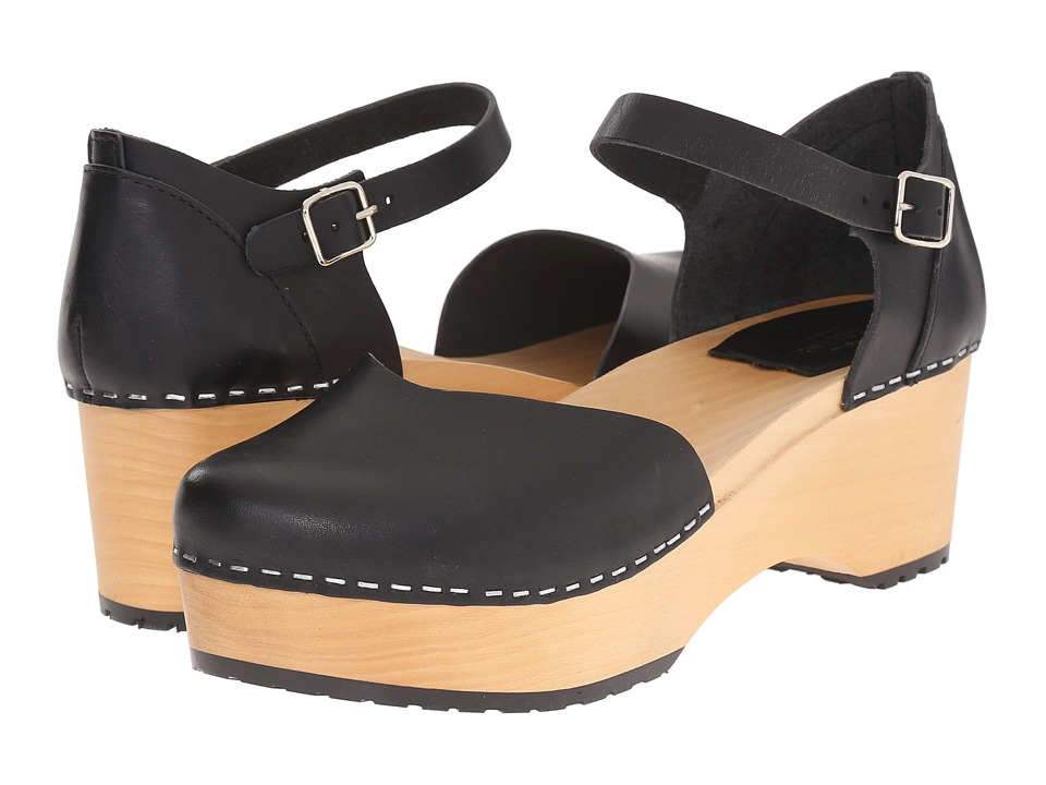 Swedish Hasbeens - China Plateau (Black) High Heels