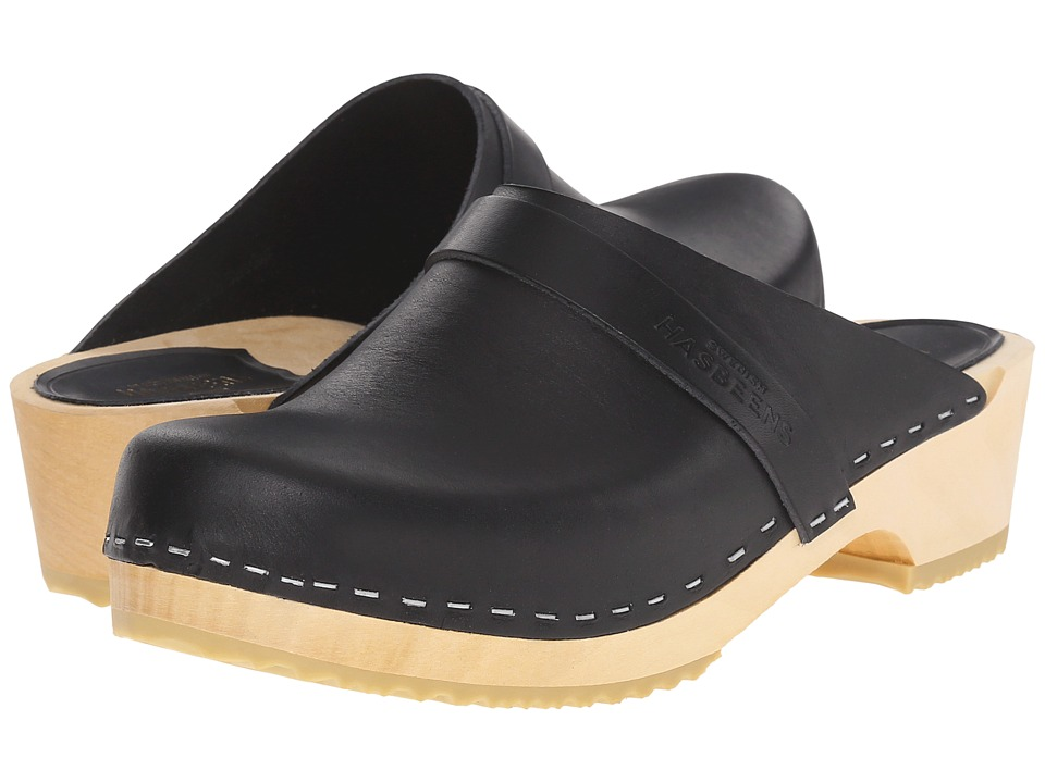 Swedish Hasbeens Swedish Husband (Black) Clogs