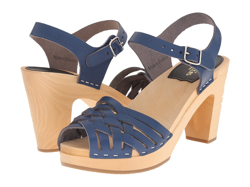 Swedish Hasbeens Braided Sky High Cobalt High Heels