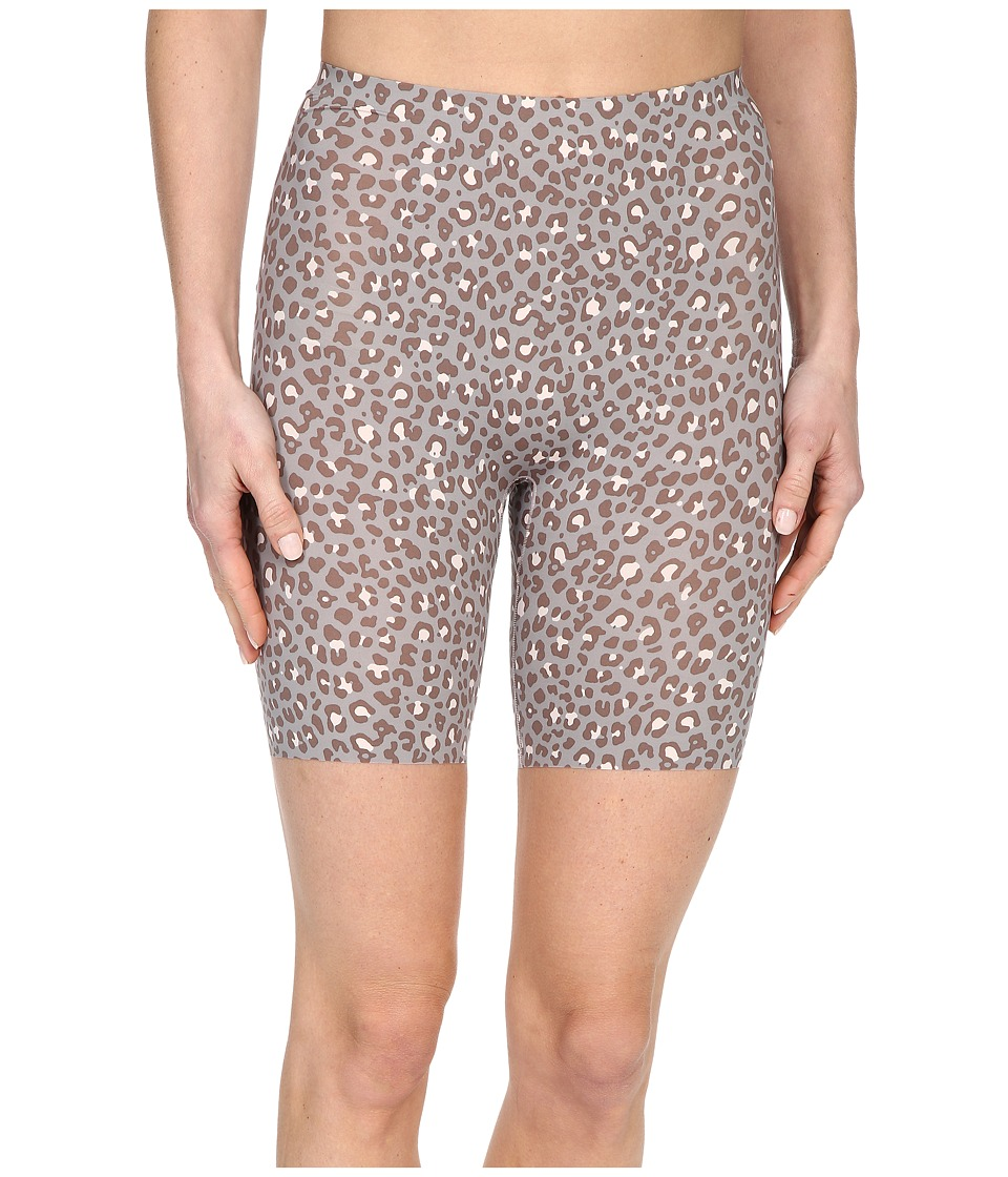 Spanx Thinstincts Mid Thigh Short Leopard Print Womens Underwear