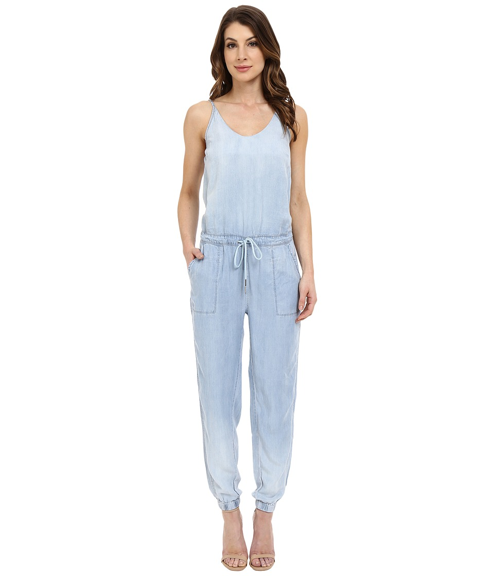 Blank NYC Indigo Tencel Jumpsuit Blue Womens Jumpsuit Rompers One Piece