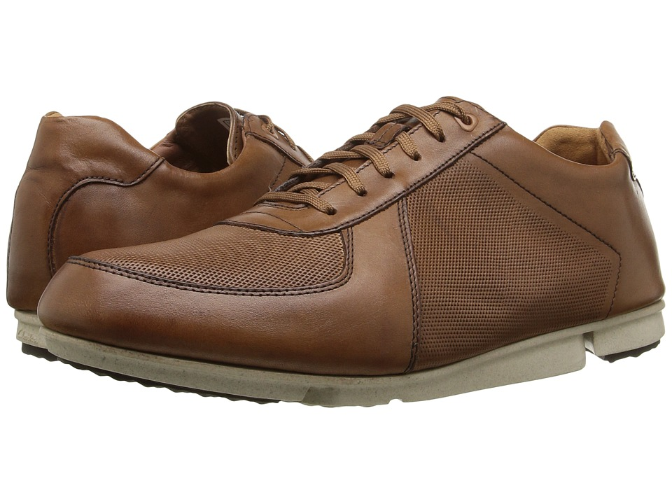 Clarks - Triturn Race (Tan Leather) Men