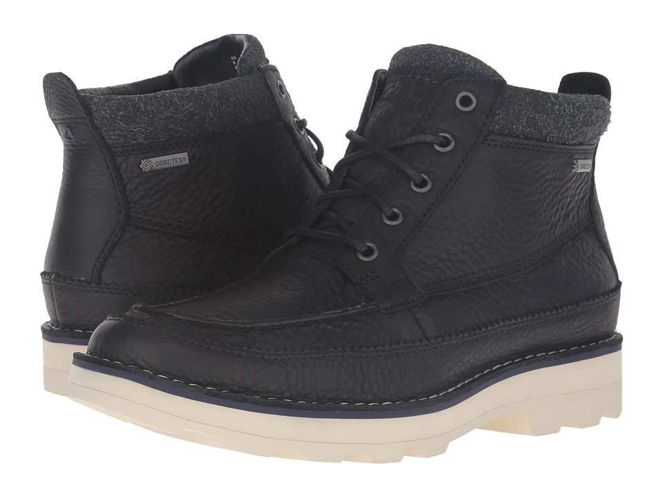 Clarks - Korik Rise GTX (Black Leather) Men