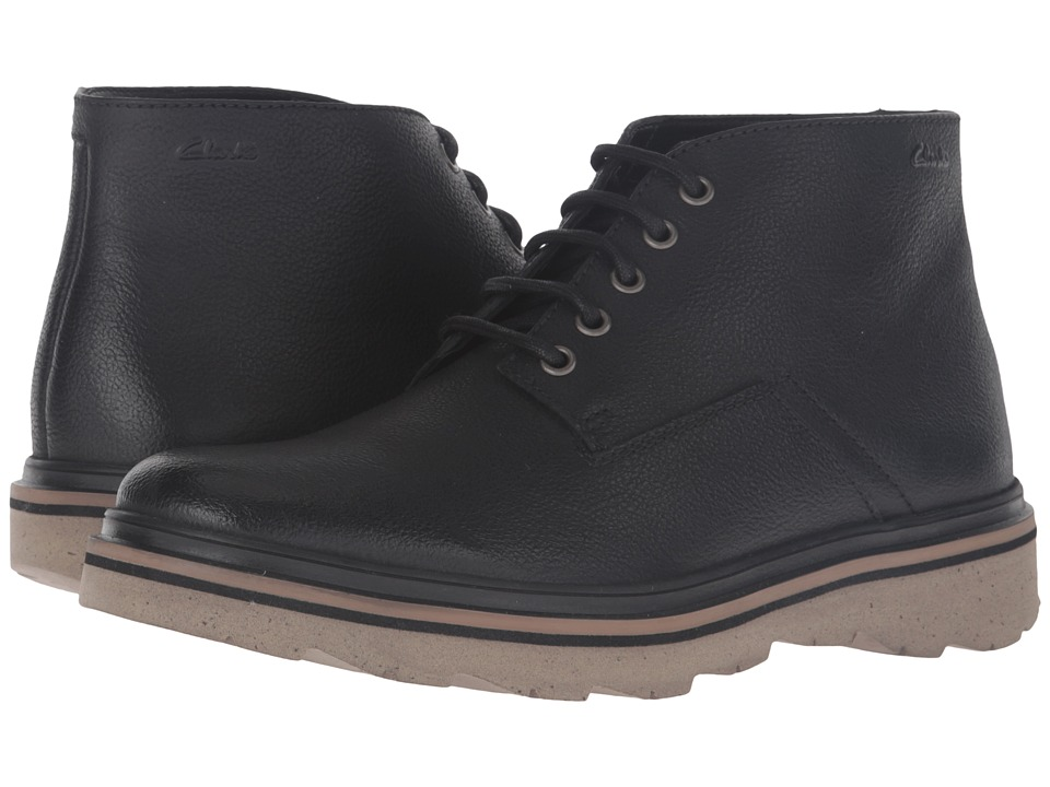 Clarks - Frelan Hike (Black Leather) Men