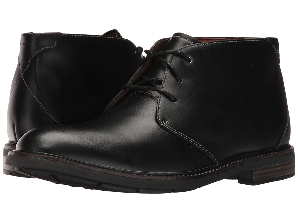 Clarks Un.Elott Mid (Black Leather) Men's Shoes