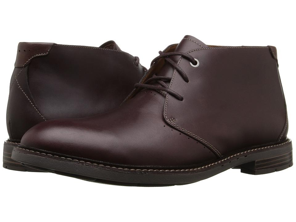 Clarks Un.Elott Mid (Burgundy Leather) Men's Shoes