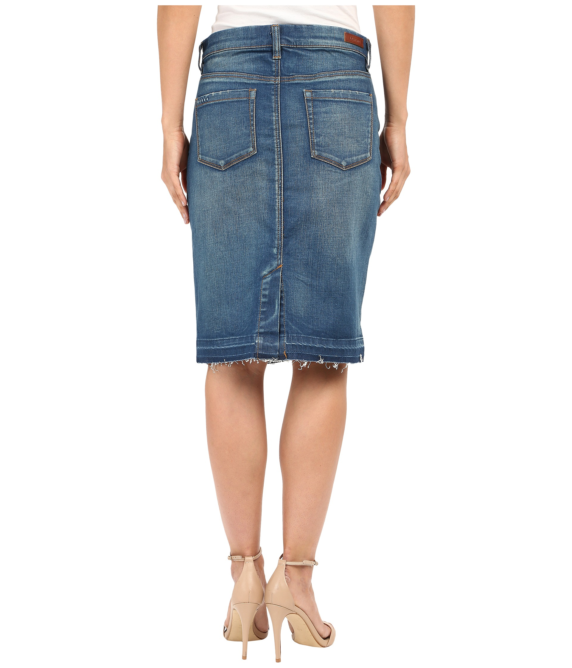 blank nyc denim pencil skirt denim blue zappos free