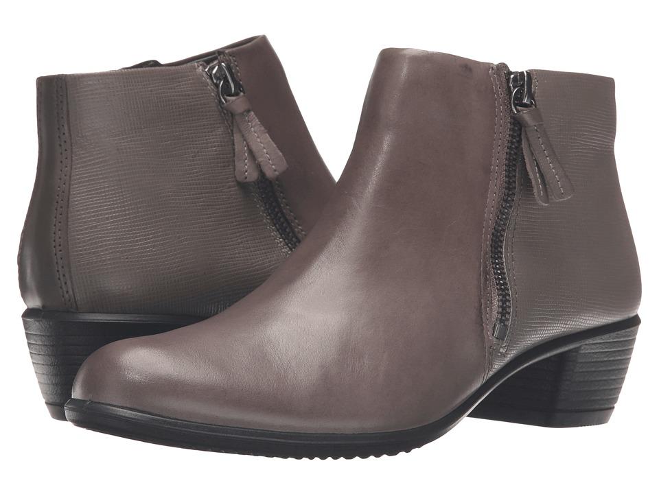 ECCO - Touch 35 Bootie (Warm Grey/Warm Grey Cow Leather) Women