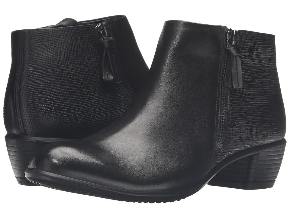 ECCO Touch 35 Bootie (Black/Black Cow Leather) Women