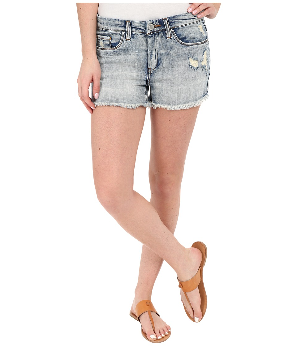 Blank NYC High Rise Denim Distressed Shorts Denim Blue Womens Shorts