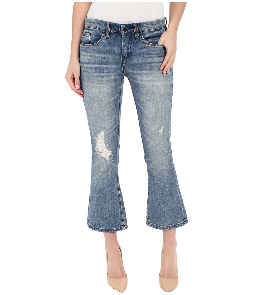 Blank NYC Crop Kick Flare Jeans in Denim Blue Denim Blue Womens Jeans
