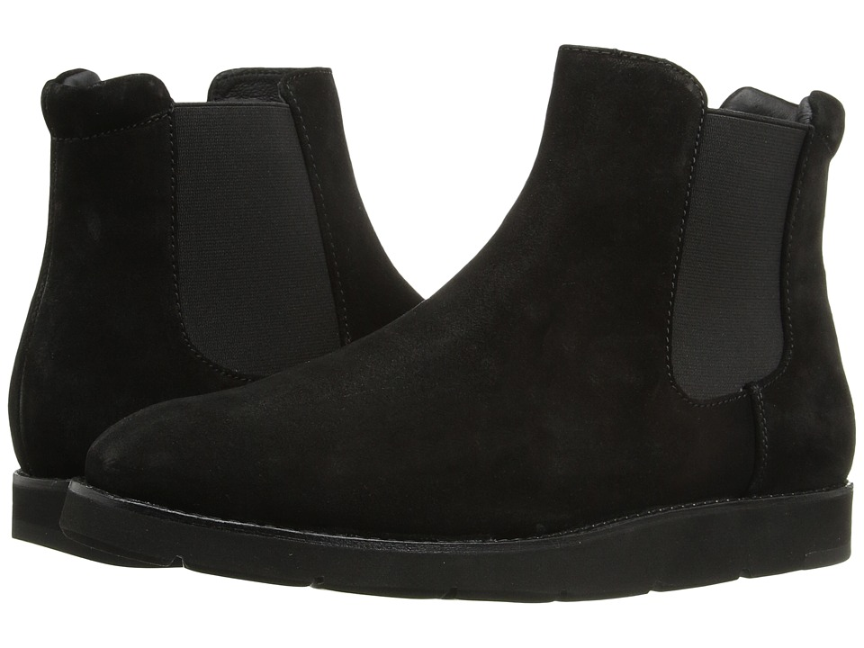 Johnston & Murphy Bree Gore Ankle Boot (Black Italian Waterproof Suede/Black Waterproof Gore) Women