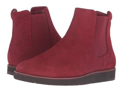 Johnston & Murphy Bree Gore Ankle Boot - Dark Red Italian Waterproof Suede/Dark Red Waterproof Gore