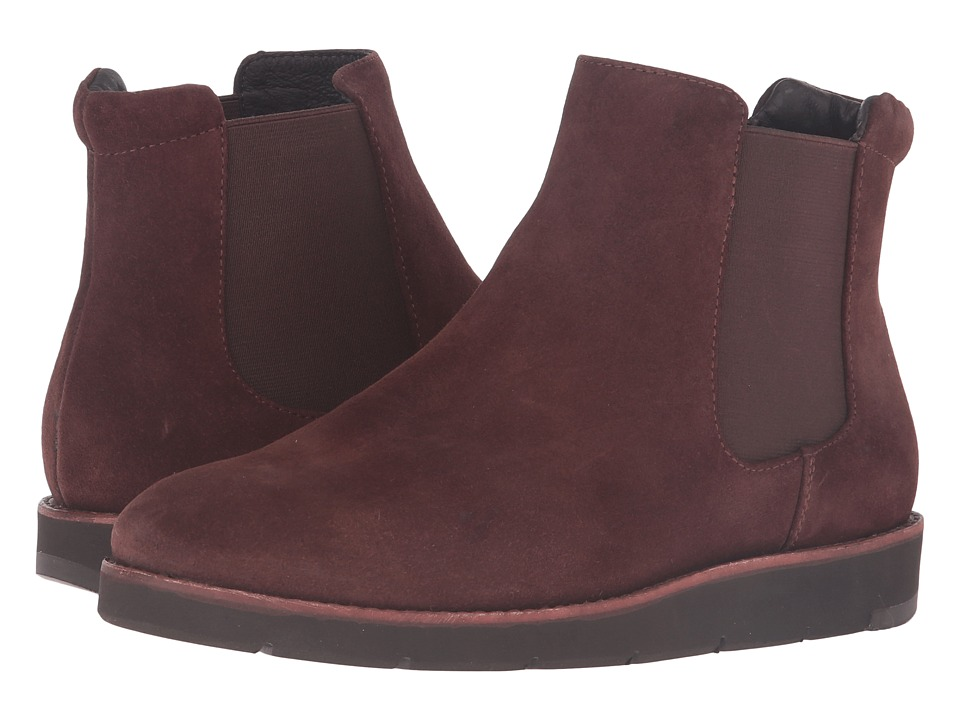 Johnston & Murphy - Bree Gore Ankle Boot (Brown Italian Waterproof Suede/Brown Waterproof Gore) Women