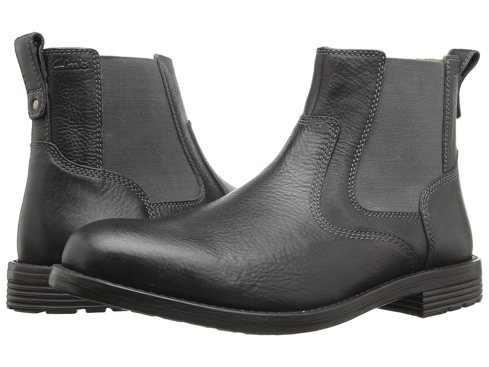 Clarks - Faulkner On (Black Leather) Men