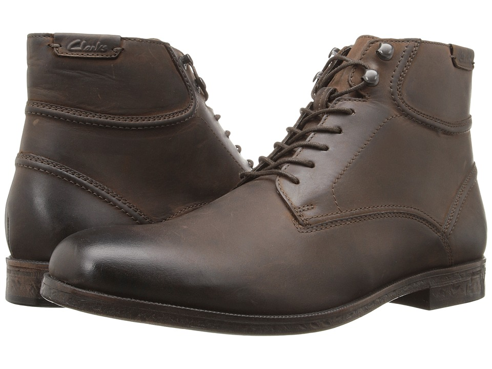 Clarks - Brocton High (Dark Brown Leather) Men
