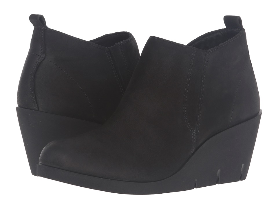 ECCO - Bella Wedge (Black Cow Nubuck) Women