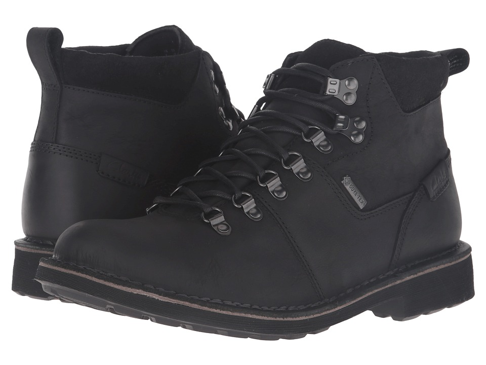 Clarks Lawes High GTX (Black Leather) Men