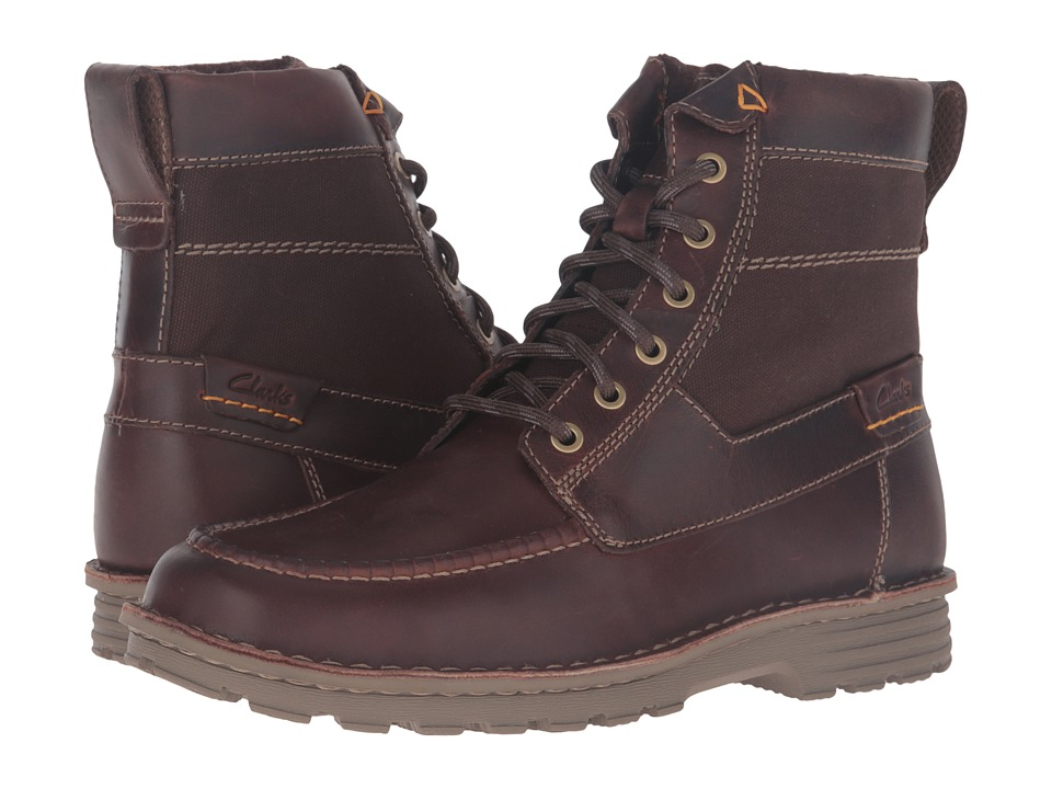 Clarks - Sawtel Hi (Brown Leather) Men