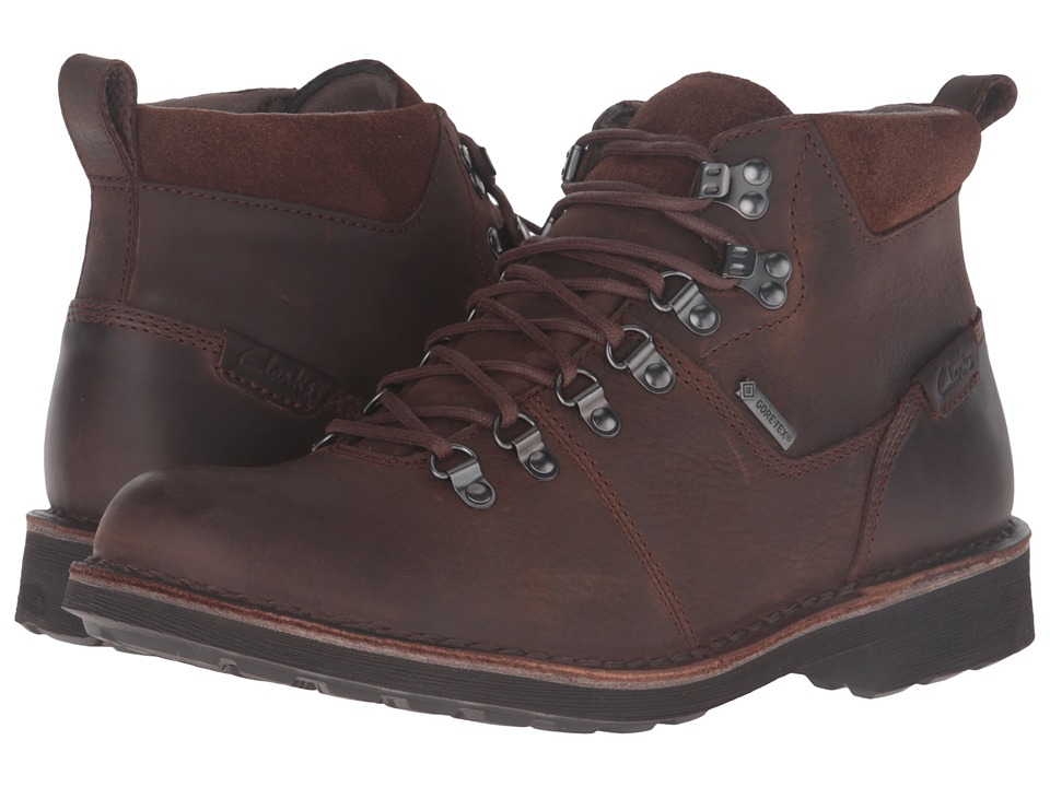 Clarks - Lawes High GTX (Brown Leather) Men