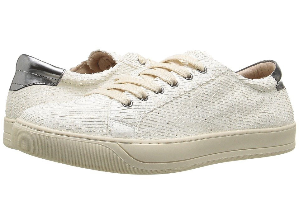 Johnston & Murphy Emerson Sneaker (Off-White Italian Snake Print Leather) Women