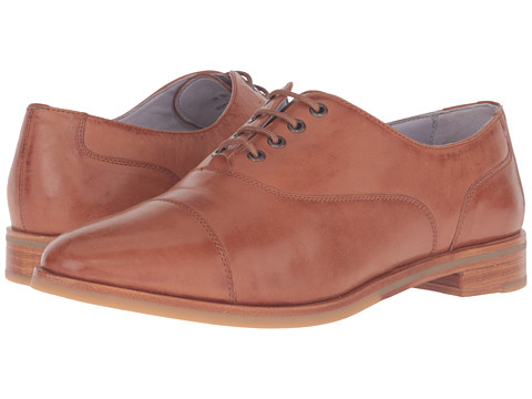 Johnston & Murphy Charlene Oxford - Teak Italian Waxy Leather