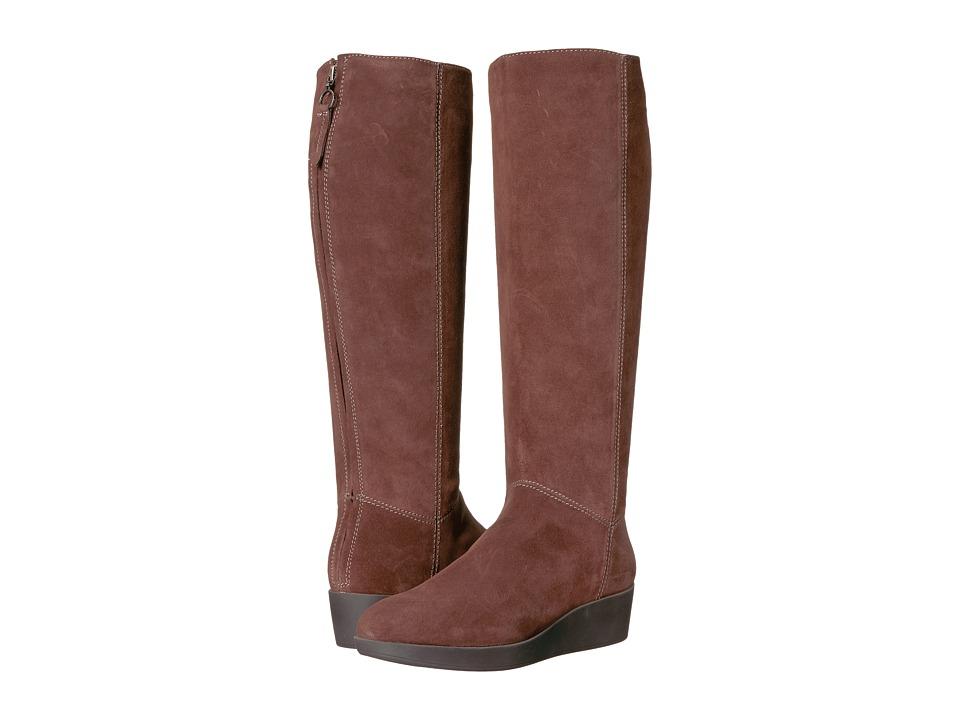 Johnston & Murphy Darcy Tall Boot (Brown Italian Waterproof Suede) Women