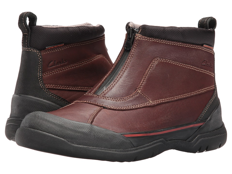 Clarks - Allyn Up (Brown Tumbled Leather) Men