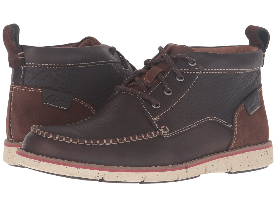 Clarks - Kyston Mid (Dark Brown Leather) Men