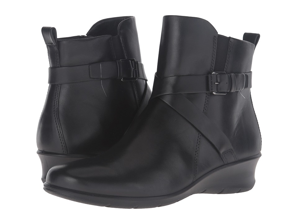 ECCO Felicia Ankle Buckle (Black Cow Leather) Women
